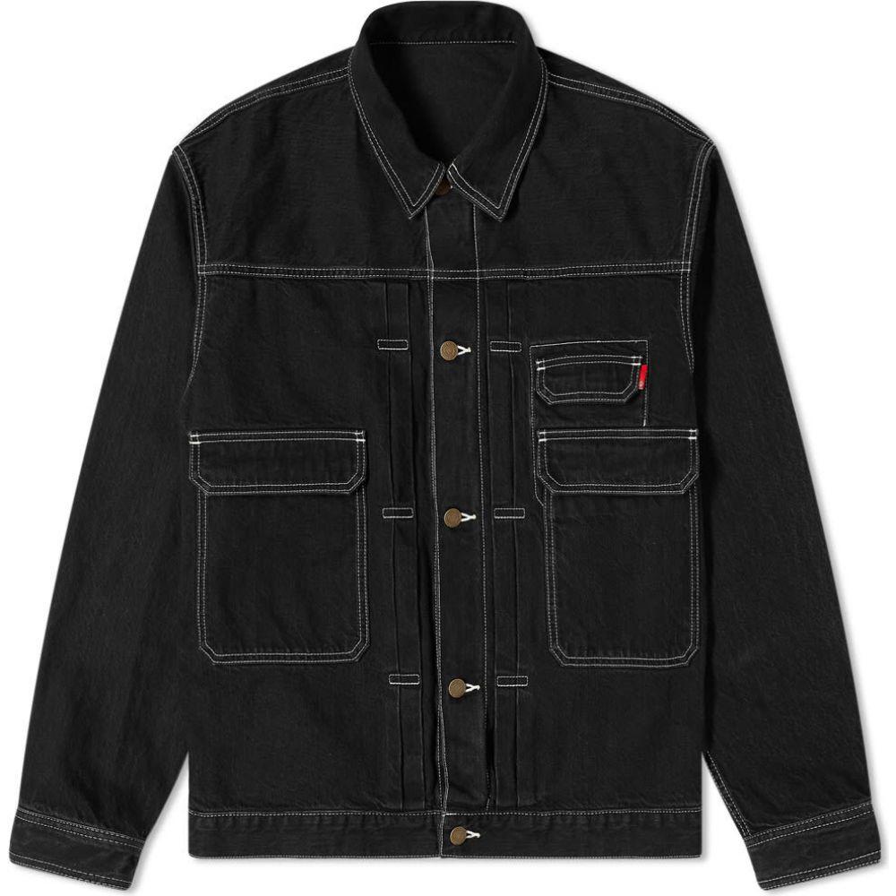 メンズファッション, コート・ジャケット  Undercover denim jacketBlack