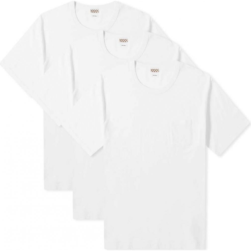 トップス, Tシャツ・カットソー  Visvim T 3 Sublig Jumbo Tee - 3 PackWhite