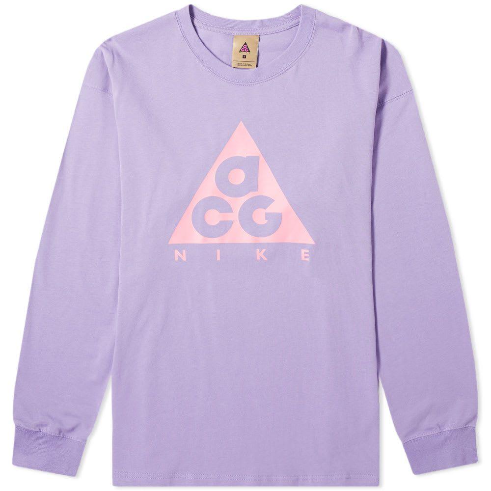 トップス, Tシャツ・カットソー  Nike T T acg long sleeve logo teeSpace PurpleLotus Pink
