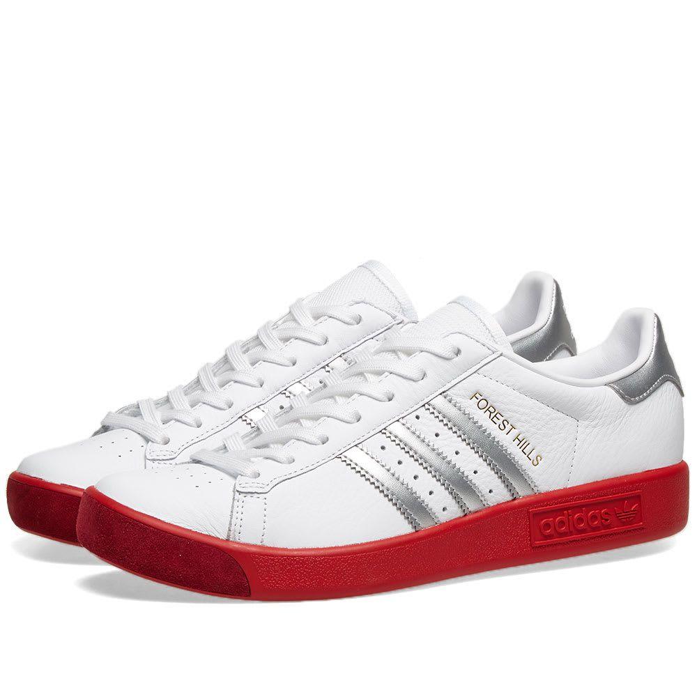 メンズ靴, スニーカー  Adidas forest hillsWhiteSilverScarlet