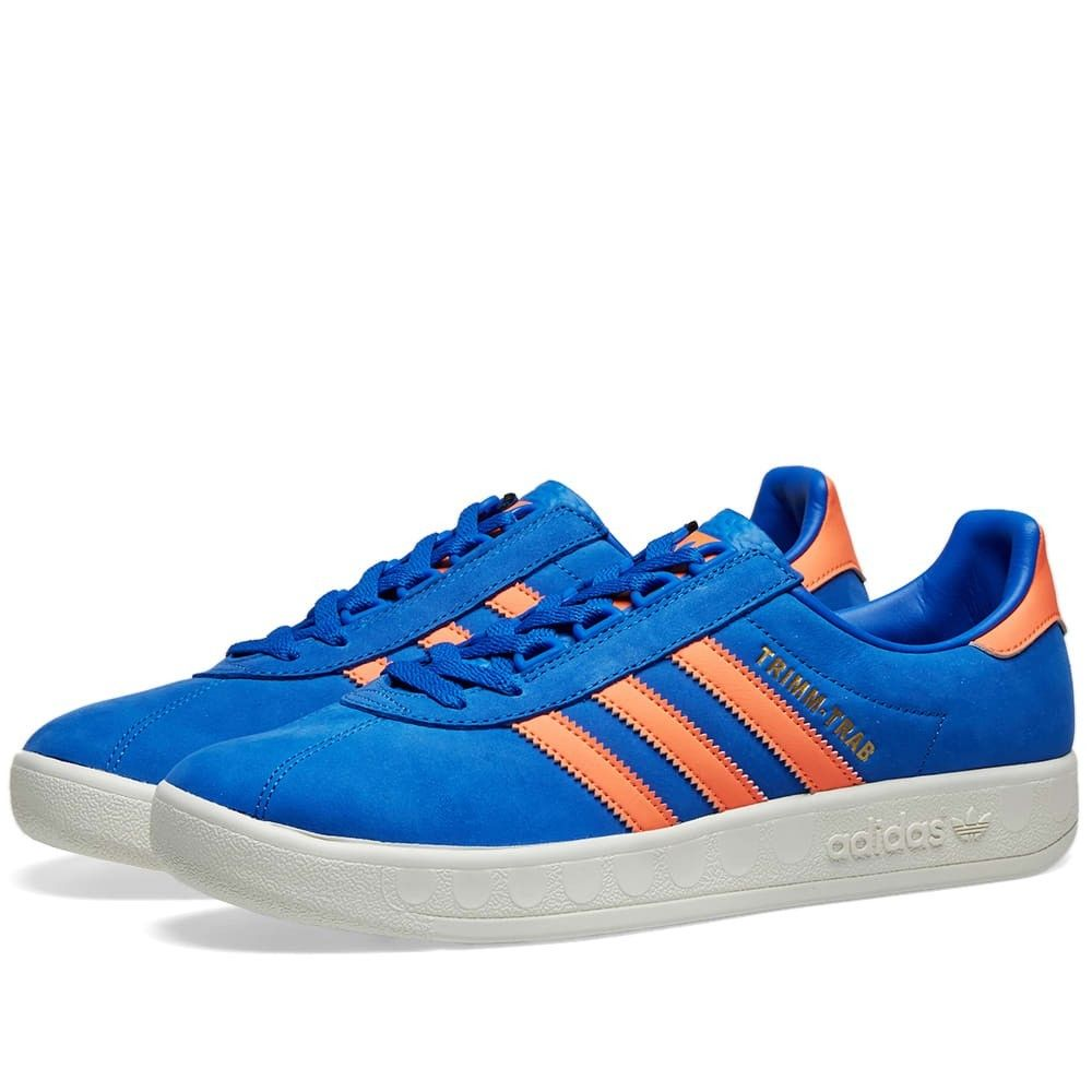メンズ靴, スニーカー  Adidas trimm trabBlueCoralCream
