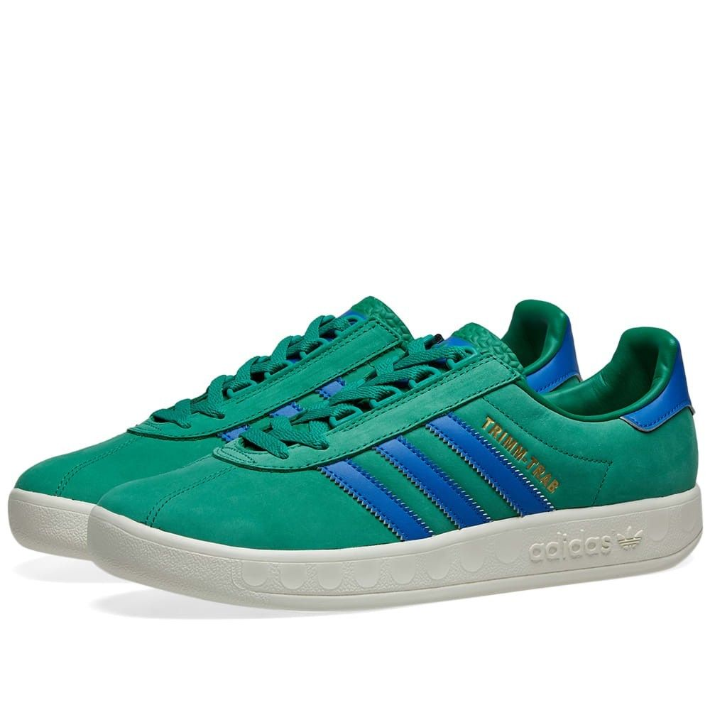メンズ靴, スニーカー  Adidas trimm trabGreenBlueCream
