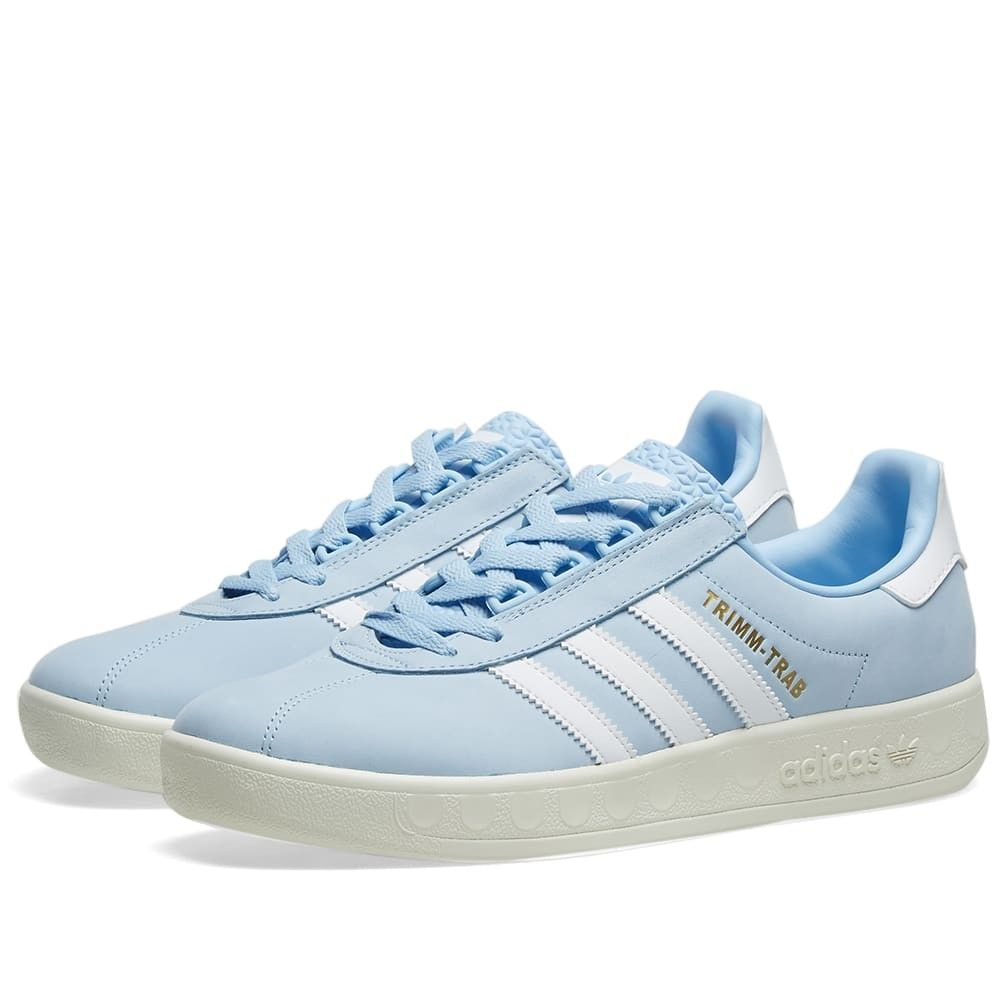 メンズ靴, スニーカー  Adidas Trimm Trab SamstagGlow BlueWhiteCream