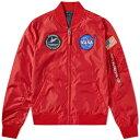 アルファ インダストリーズ Alpha Industries メンズ ブルゾン アウター【ma-1 tt nasa reversible ii jacket】Speed Red/Replica Blue Stars