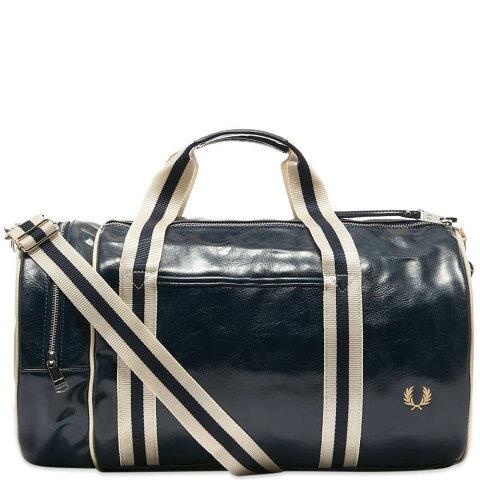 フレッドペリー Fred Perry Authentic メンズ ボストンバッグ・ダッフルバッグ バッグ【Classic Barrel Bag】Navy/Ecru