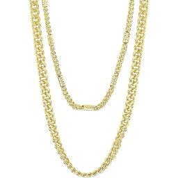 スターリング フォーエバー Sterling Forever レディース ネックレス ジュエリー・アクセサリー【Curb & Station Layered Chain Necklace】Gold
