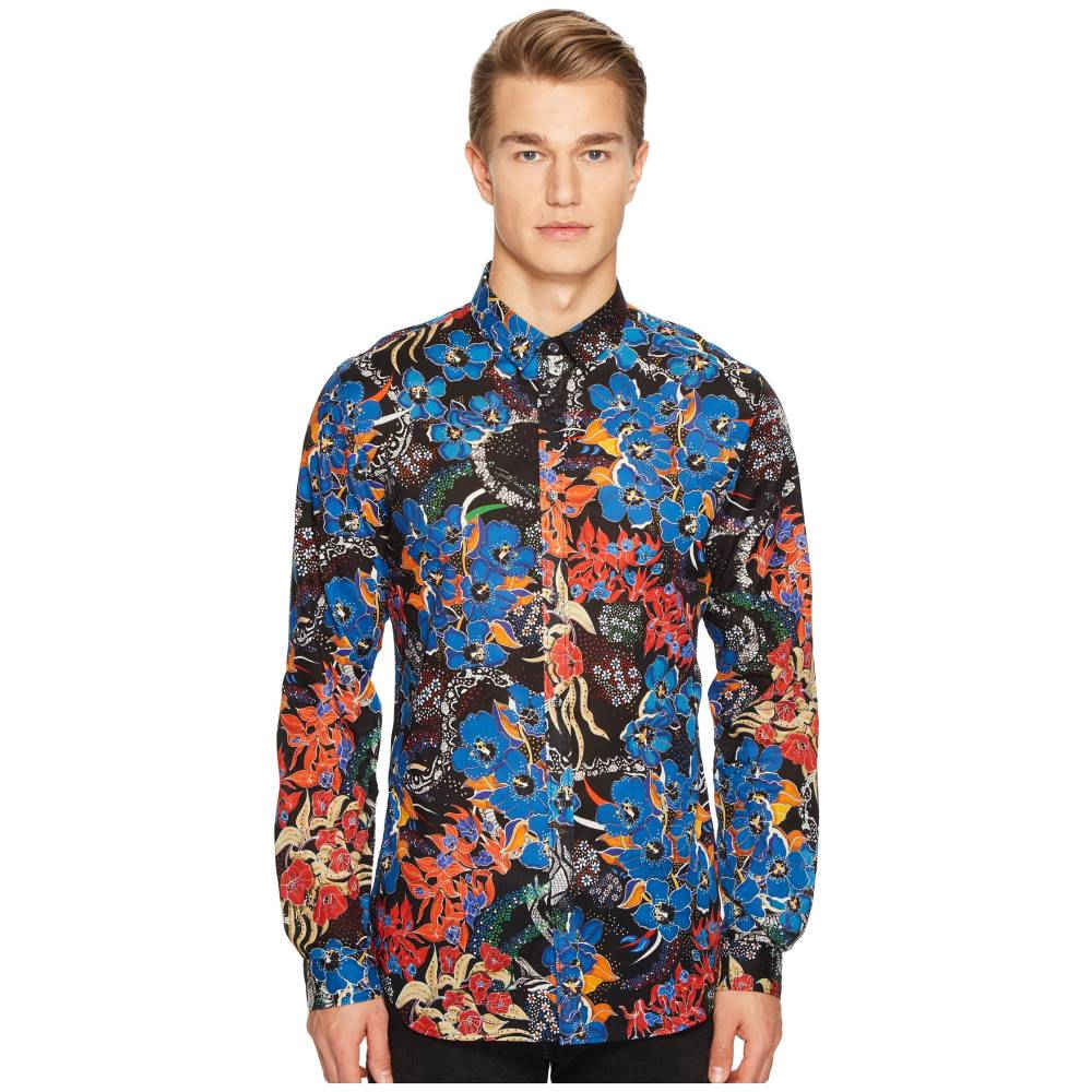 ジャストカヴァッリ Just Cavalli メンズ トップス カジュアルシャツ【Floral Print Shirt】Black:フェルマート