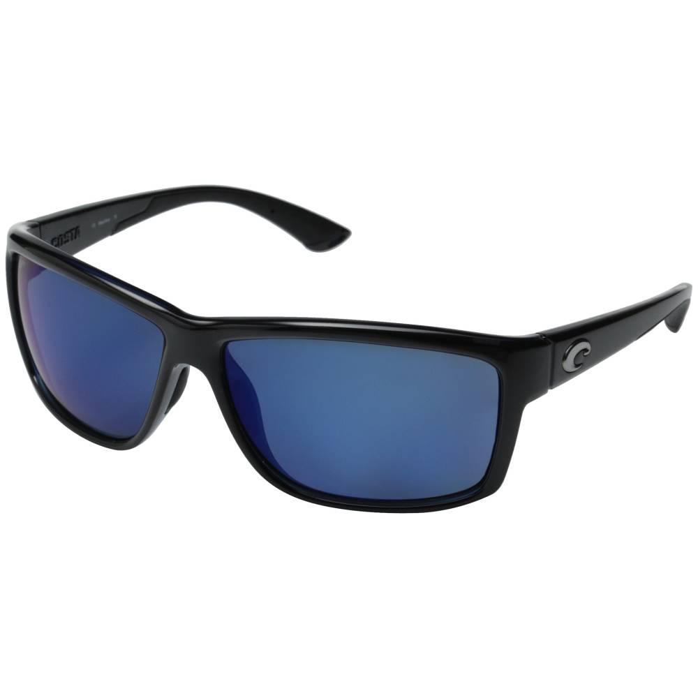 コスタ メンズ ファッション小物 スポーツサングラス【Costa Mag Bay 580 Mirror Plastic】Shiny Black/Blue Mirror 580P Plastic Lens:フェルマート