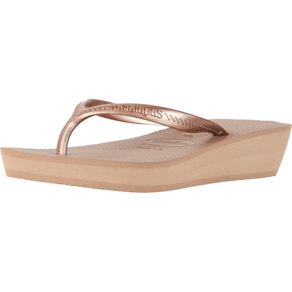 ハワイアナス レディース シューズ・靴 ビーチサンダル【High Light Flip Flops】Rose Gold