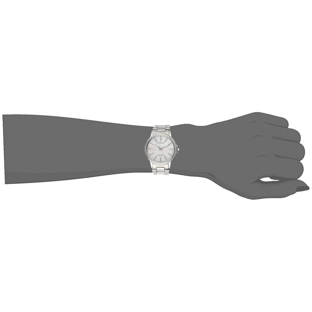 シチズン レディース 腕時計【FE7030-57D Eco-Drive】Silver-Tone