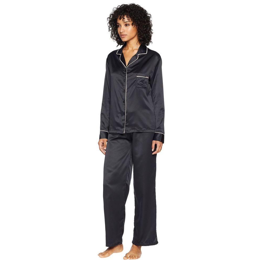 ブルーベラ レディース インナー・下着 パジャマ・上下セット【Claudia Pajama】Black/Pale Pink