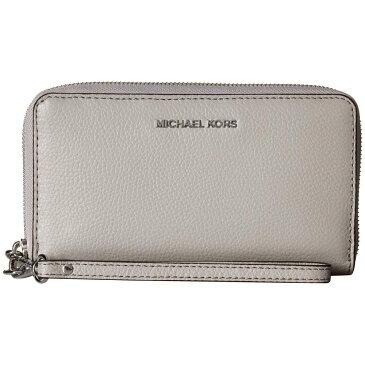 マイケル コース MICHAEL Michael Kors レディース スマホケース【Large Flat Multifunction Phone Case】Pearl Grey