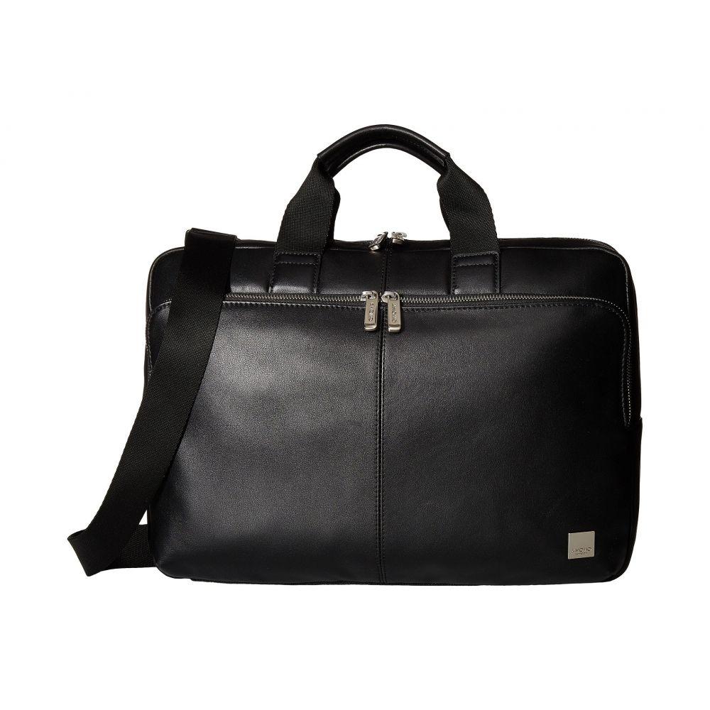 モノ KNOMO London メンズ バッグ ビジネスバッグ・ブリーフケース【Brompton Classic Newbury Single Zip Brief】Black