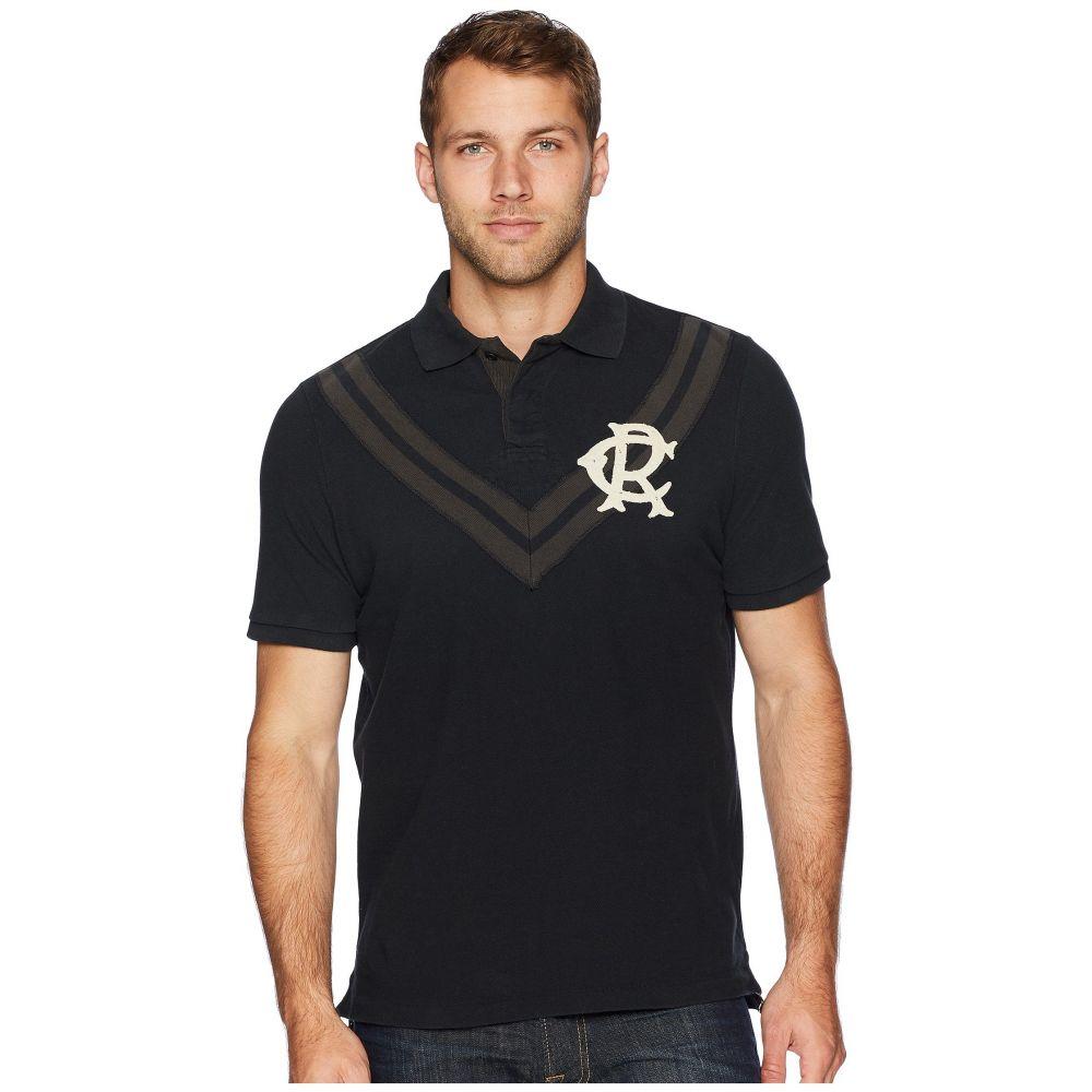 ラルフ ローレン Polo Ralph Lauren メンズ トップス ポロシャツ【Distressed Chevron Pique Polo Shirt】Polo Black