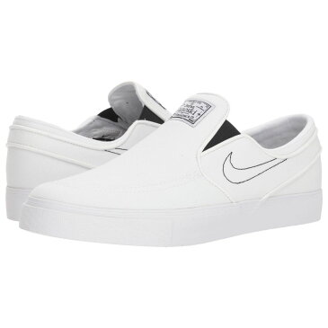 ナイキ Nike SB メンズ シューズ・靴 スリッポン・フラット【Zoom Stefan Janoski Slip-on Canvas】White/White/Black