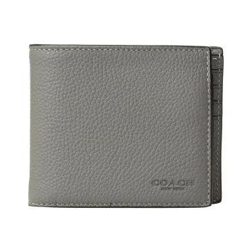 コーチ COACH メンズ 財布【3-in-1 Wallet in Pebbled Leather】Heather Grey