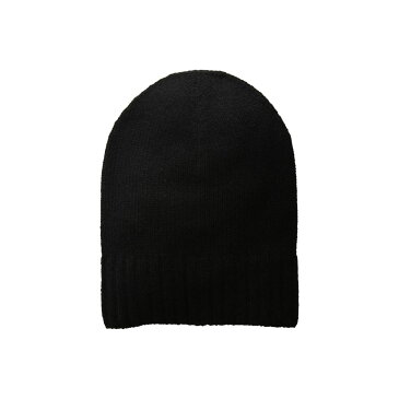 ハットアタック Hat Attack レディース 帽子 ニット【Cashmere Slouchy/Cuff Hat】Black
