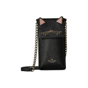 ケイト スペード Kate Spade New York レディース スマホケース【Cat North/South Crossbody Phone Case】Black