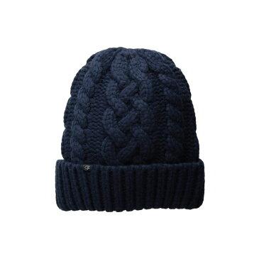 プラッシュ Plush レディース 帽子 ニット【Hand Knit Vegan Cashmere Hat】Navy