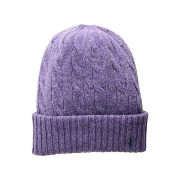 ラルフ ローレン Polo Ralph Lauren レディース 帽子 ニット【Wool Cashmere Classic Cable Cuff Hat】Thistledown Heather