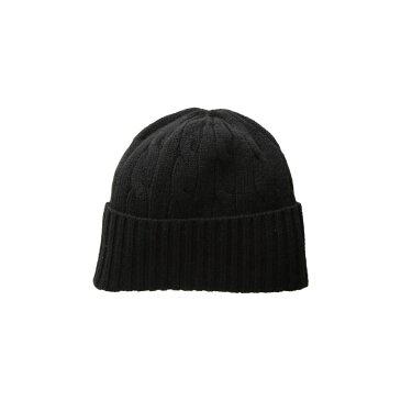 ラルフ ローレン Polo Ralph Lauren レディース 帽子 ニット【Cashmere Classic Cable Hat】Black