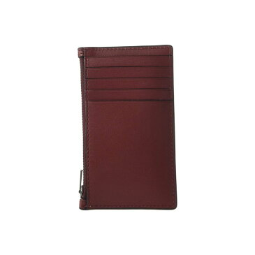 コーチ COACH メンズ カードケース・名刺入れ【Zip Card Case in Refined Calf】Red