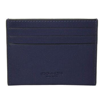 コーチ COACH メンズ カードケース・名刺入れ【Boxed Leather Card Case Featuring Motif】Blue