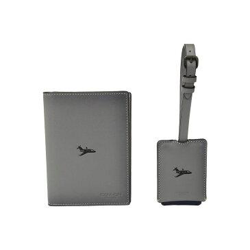 コーチ COACH メンズ パスポートケース【Boxed Passport Case and Luggage Tag Featuring Motif】Grey