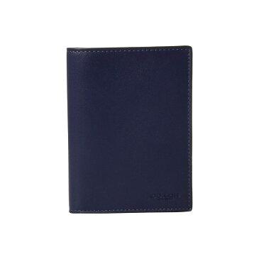 コーチ COACH メンズ パスポートケース【Passport Case in Refined Calf】Blue