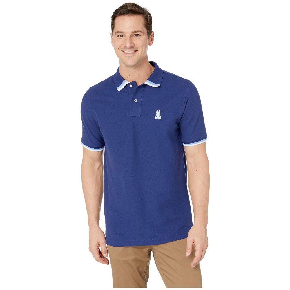 05d4286e3a2a サイコバニー Psycho Bunny メンズ トップス ポロシャツ【Marlow Polo】Blue Print サイコバニー メンズ トップス  ポロシャツ Blue Print 【サイズ交換無料】