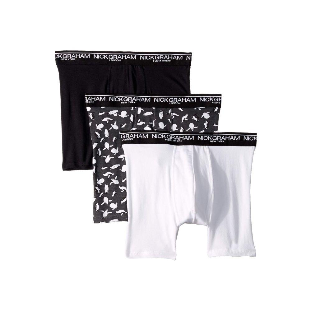 インナー・下着, トランクス  Nick Graham 3-Pack Penguin in Your Pants Boxer BriefBlackWhite