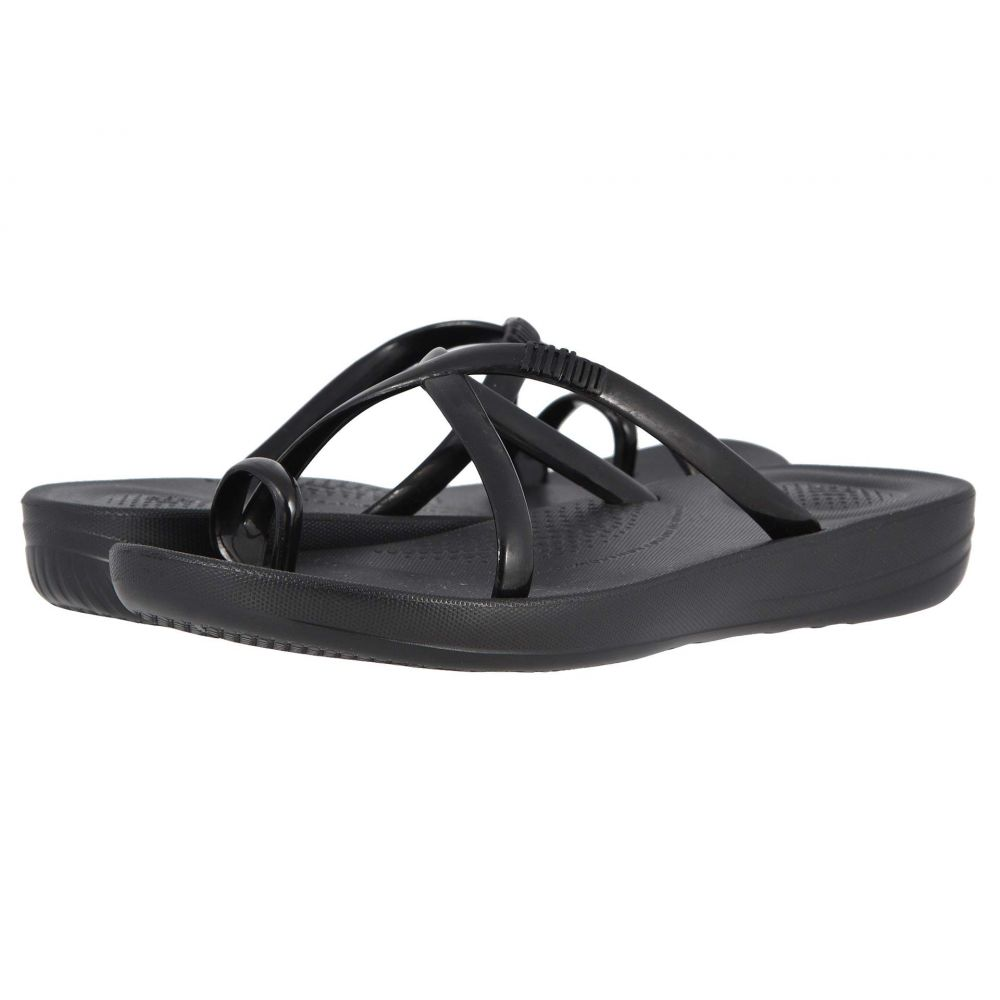 フィットフロップ FitFlop レディース シューズ・靴 サンダル・ミュール【Iqushion Wave - Pearlised】Black