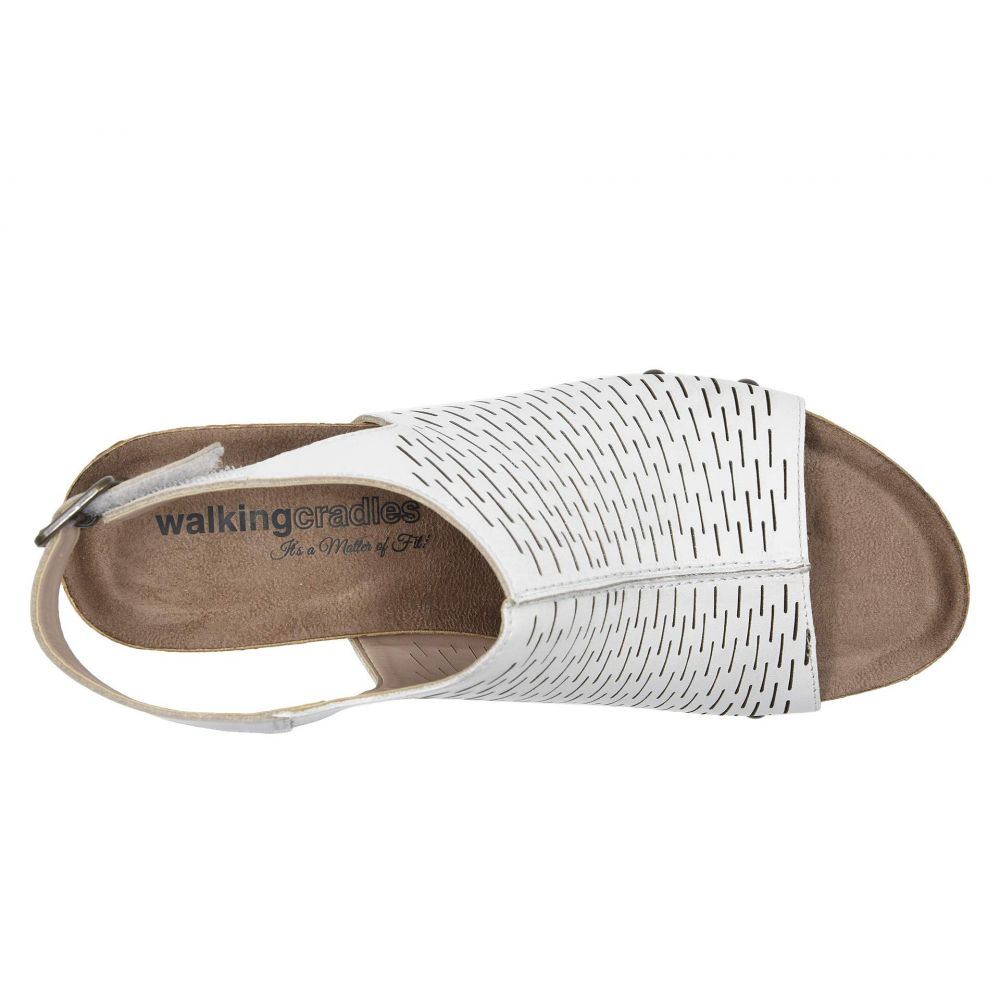 ウォーキング クレードル Walking Cradles レディース シューズ・靴 サンダル・ミュール【Taminee】White Accordion Perforated Leather