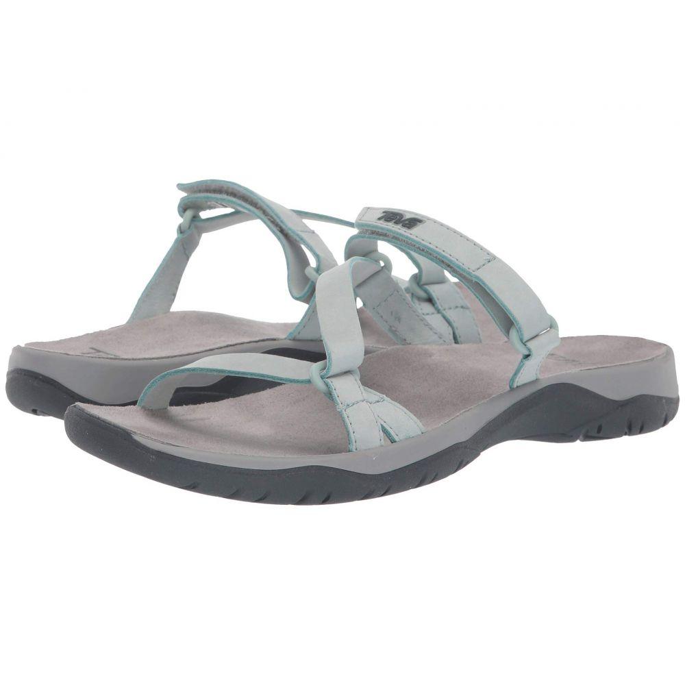 テバ Teva レディース シューズ・靴 サンダル・ミュール【Elzada Slide Lea】Gray Mist