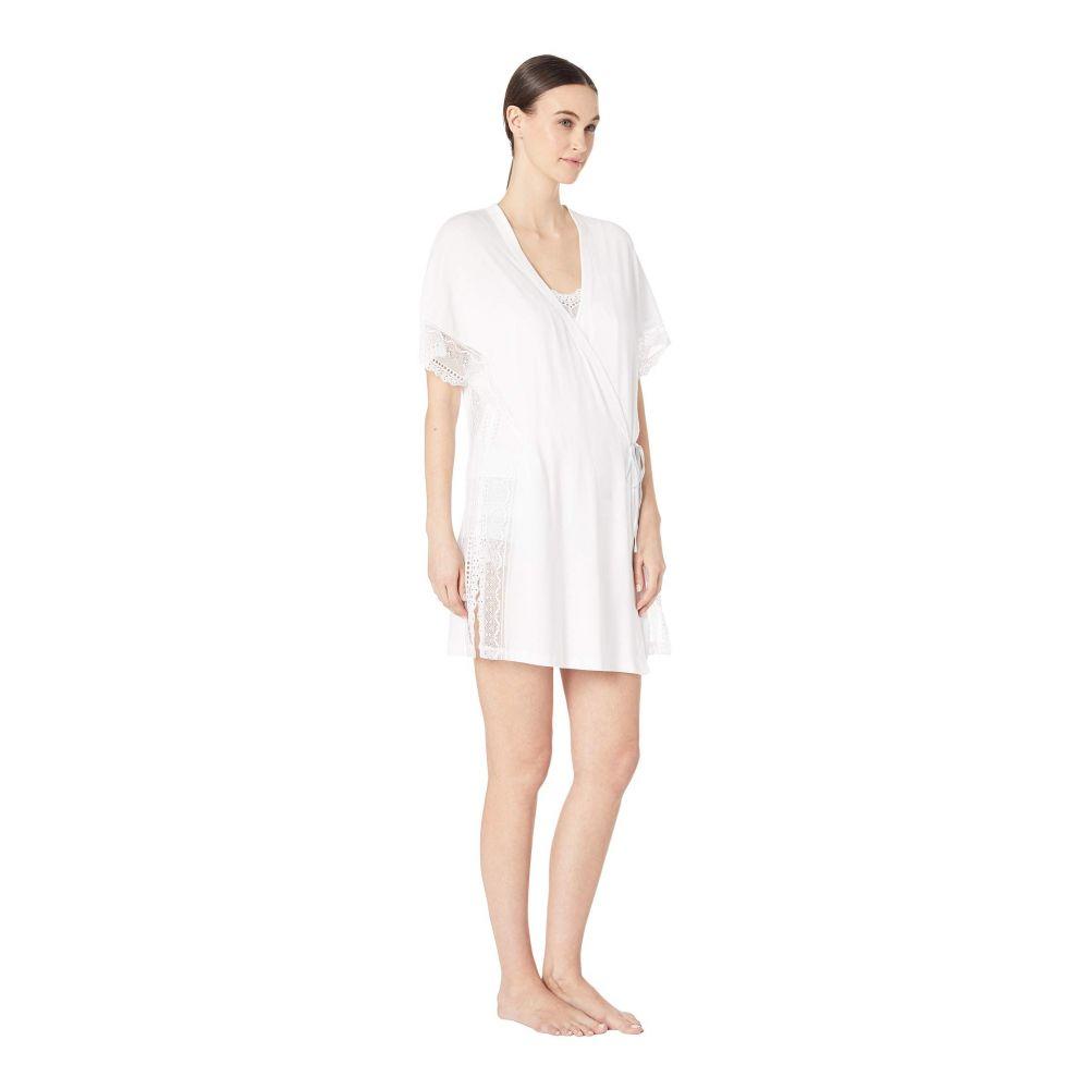 エバージェイ Eberjey レディース インナー・下着 ガウン・バスローブ【Lucie - The Side Tie Robe】White