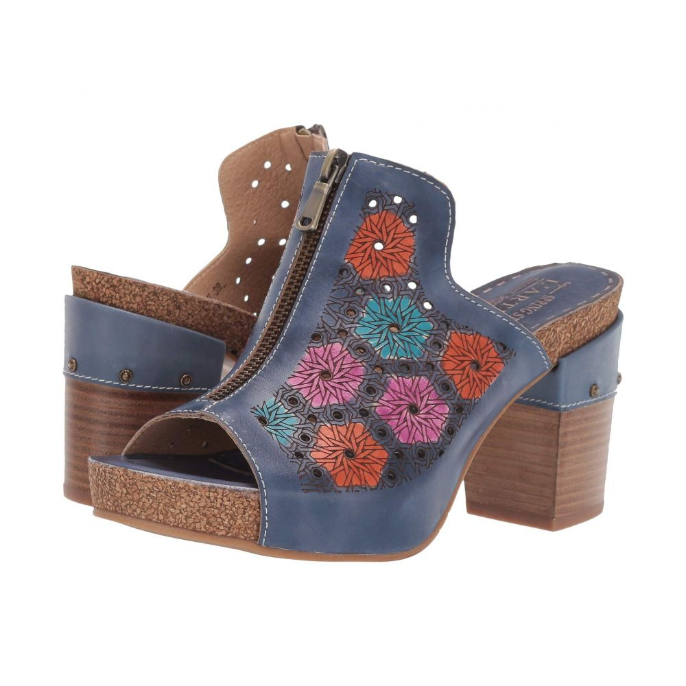 スプリングステップ L'Artiste by Spring Step レディース シューズ・靴 サンダル・ミュール【Zippia】Blue