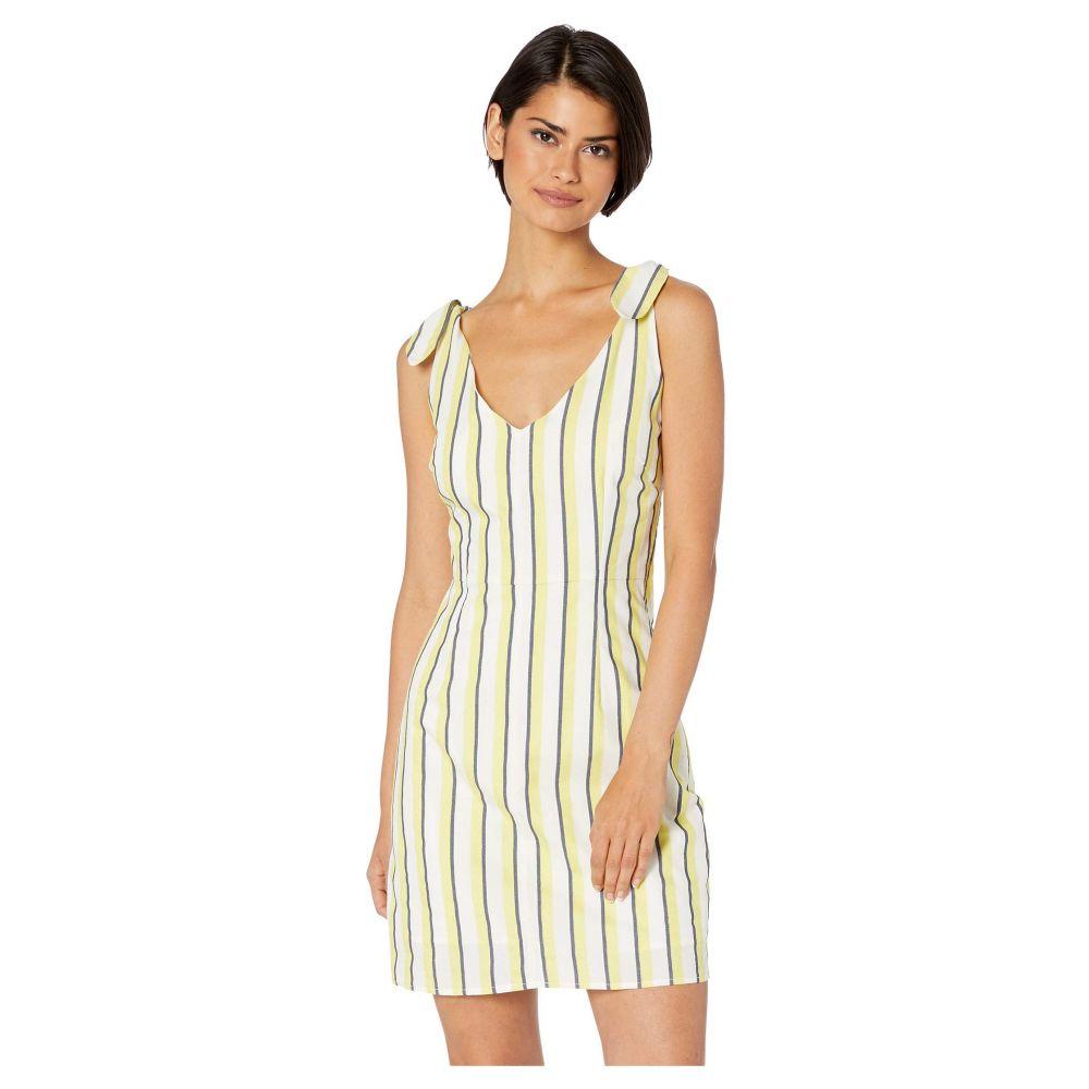 カップケーキ アンド カシミア Cupcakes and Cashmere レディース ワンピース・ドレス ワンピース【Marguerite Stripe Dress w/ Shoulder Ties】Cintron Yellow