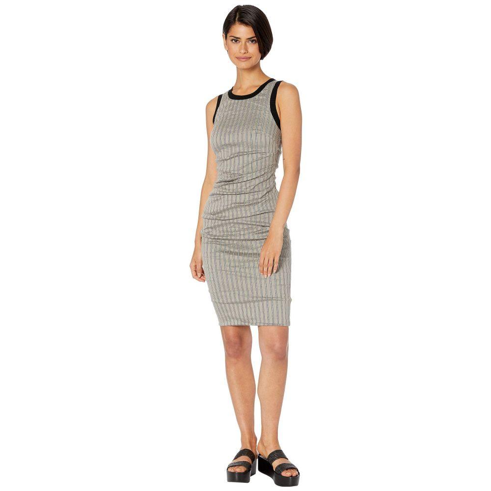 ニコルミラー Nicole Miller レディース ワンピース・ドレス ワンピース【Striped Cotton Metal Sheath Dress】Taupe