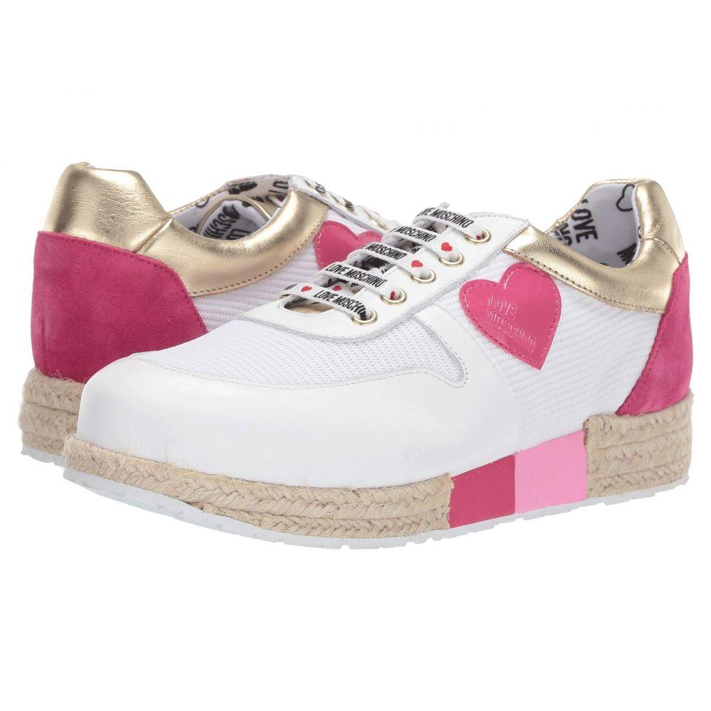 モスキーノ LOVE Moschino レディース シューズ・靴 エスパドリーユ【Espadrille Sneaker】White/Pink/Gold