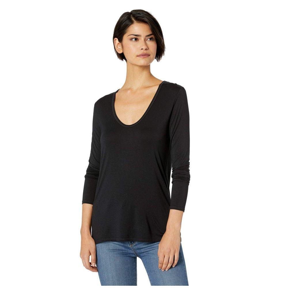 スプレンディッド Splendid レディース トップス 長袖Tシャツ【Madison Long Sleeve U-Neck】Black