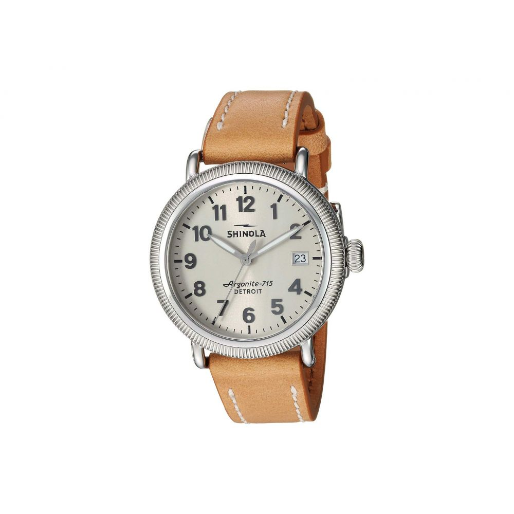 シャイノーラ Shinola Detroit レディース 腕時計【The Runwell Coin Edge 38mm - 20109234】Natural/Silver