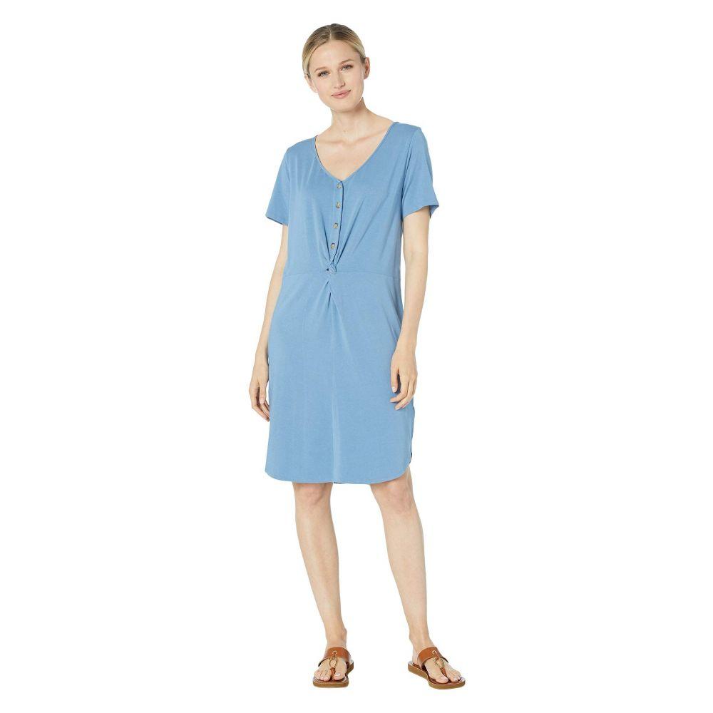 モドオードック Mod-o-doc レディース ワンピース・ドレス ワンピース【Scotton Modal Knotted Button Front Dress】Blue Moon