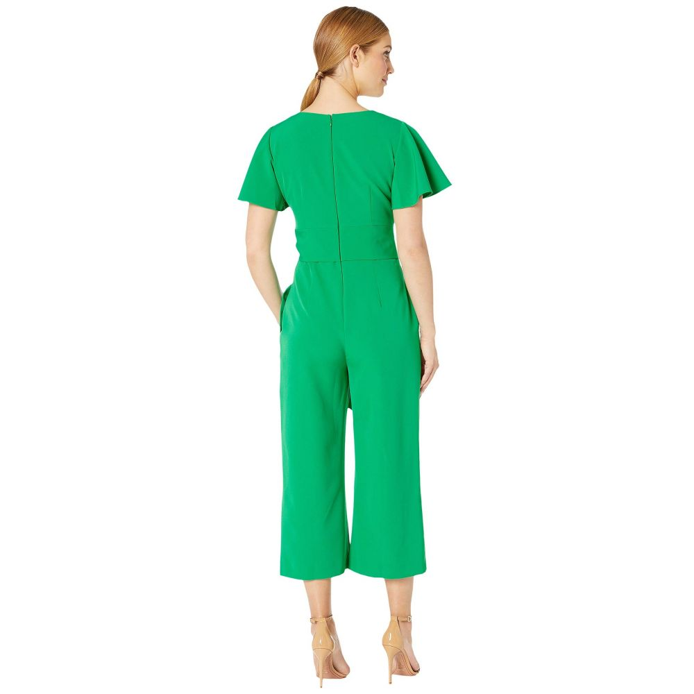 タハリ Tahari by ASL レディース ワンピース・ドレス オールインワン【Short Sleeve Wrap Front Crepe Jumpsuit】Tropical Green