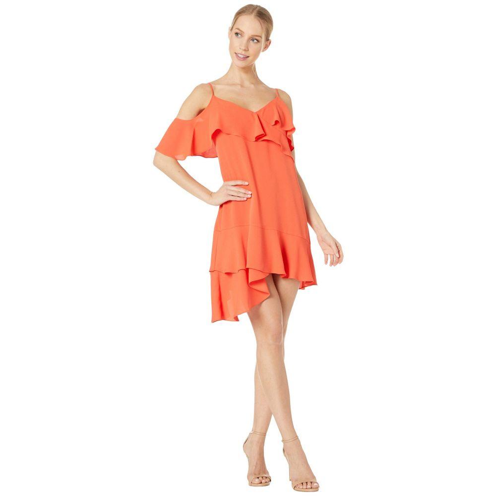 ビーシービージーマックスアズリア BCBGMAXAZRIA レディース ワンピース・ドレス パーティードレス【Ruffle Short Cocktail Dress】Poinsettia