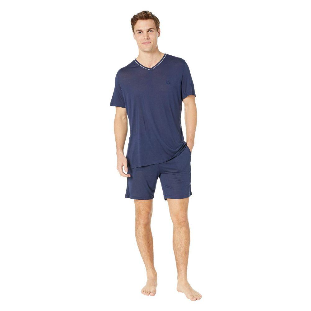 オム HOM メンズ インナー・下着 パジャマ・上下セット【Relax Short Sleepwear】Navy