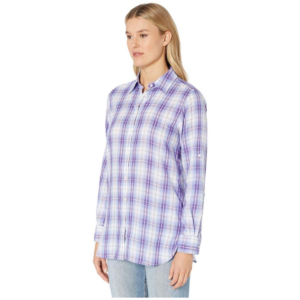 ラルフ ローレン LAUREN Ralph Lauren レディース トップス ブラウス・シャツ【Plaid Twill Button-Down Shirt】Purple/White Multi