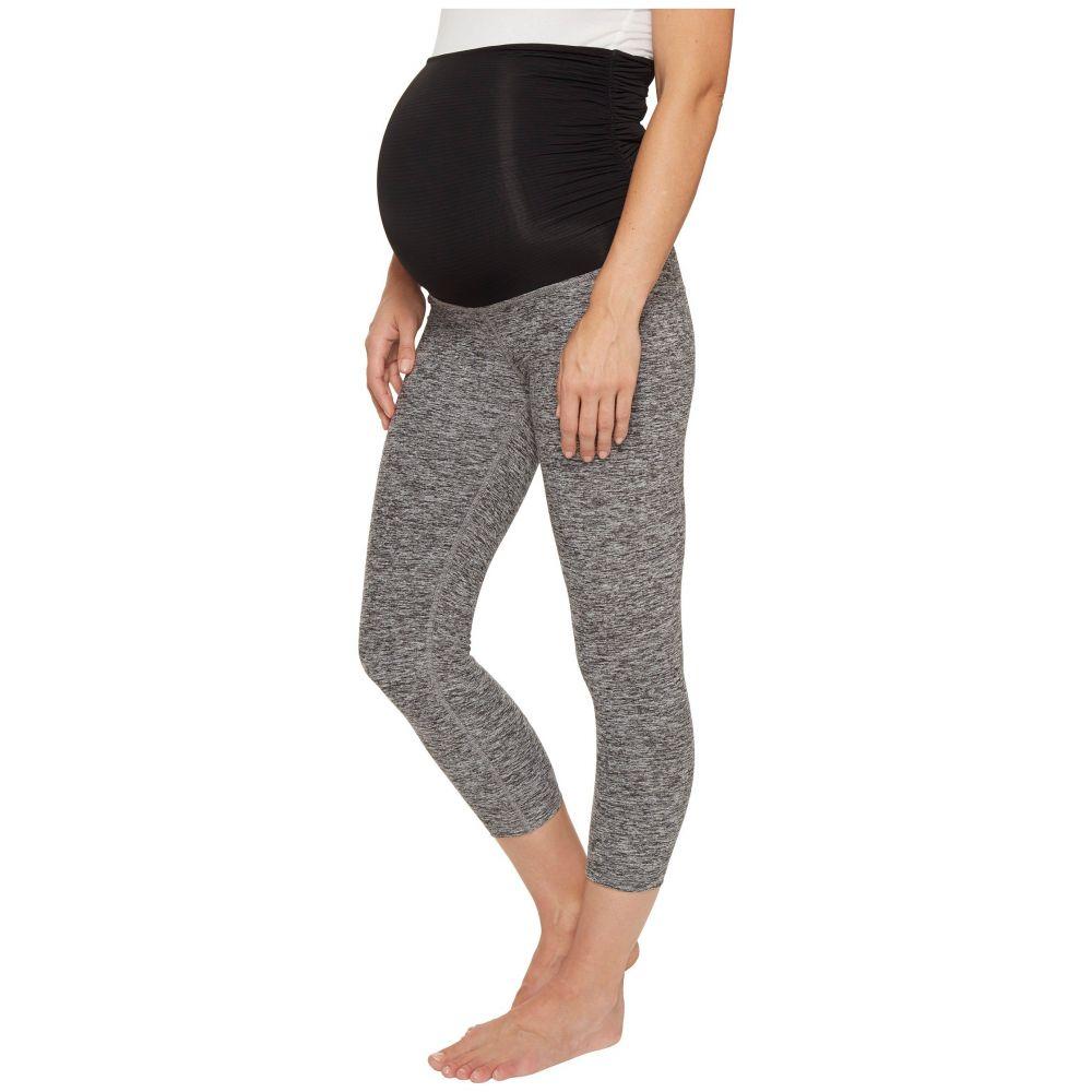 ビヨンドヨガ Beyond Yoga レディース インナー・下着 スパッツ・レギンス【Fold Down Maternity Capri Leggings】Black/White Space Dye