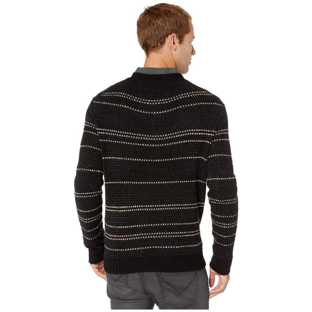 ジョン バルベイトス John Varvatos Collection メンズ トップス ニット・セーター【Oversize Jacquard Stripe Sweater】Black