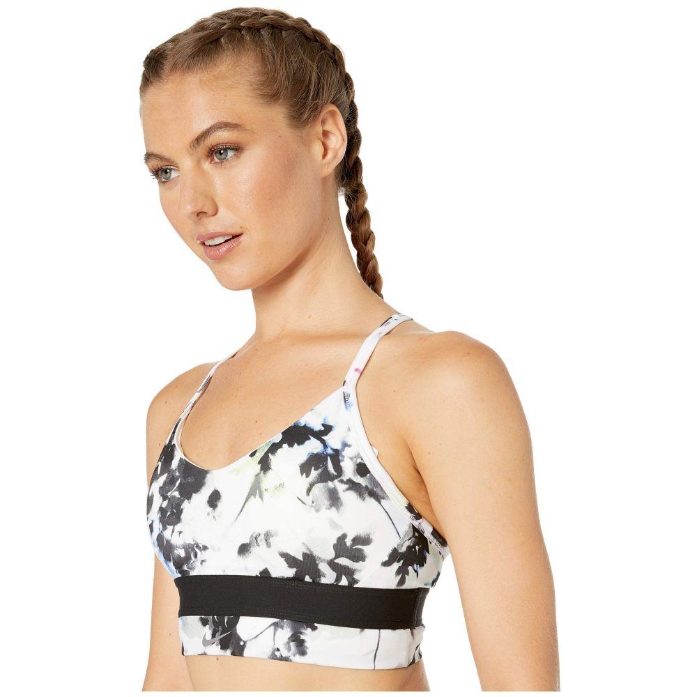 ナイキ Nike レディース インナー・下着 ブラジャーのみ【Indy Floral Long Line Bra】White/White/Black