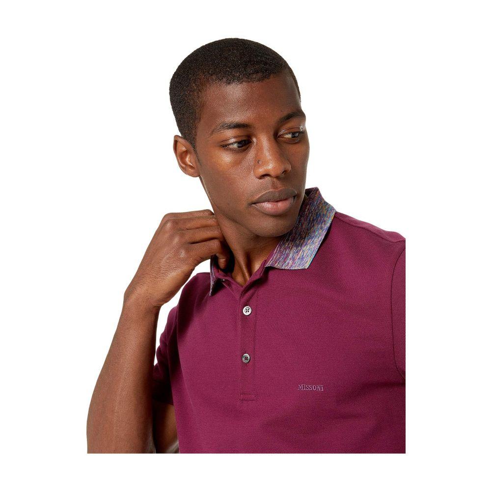 ミッソーニ Missoni メンズ トップス ポロシャツ【Sfumato Collar Pique Polo】Burgundy